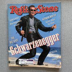 Schwarzenegger - Rolling Stone Magazine Issue #611 - 1991 for Sale in Herriman,  UT