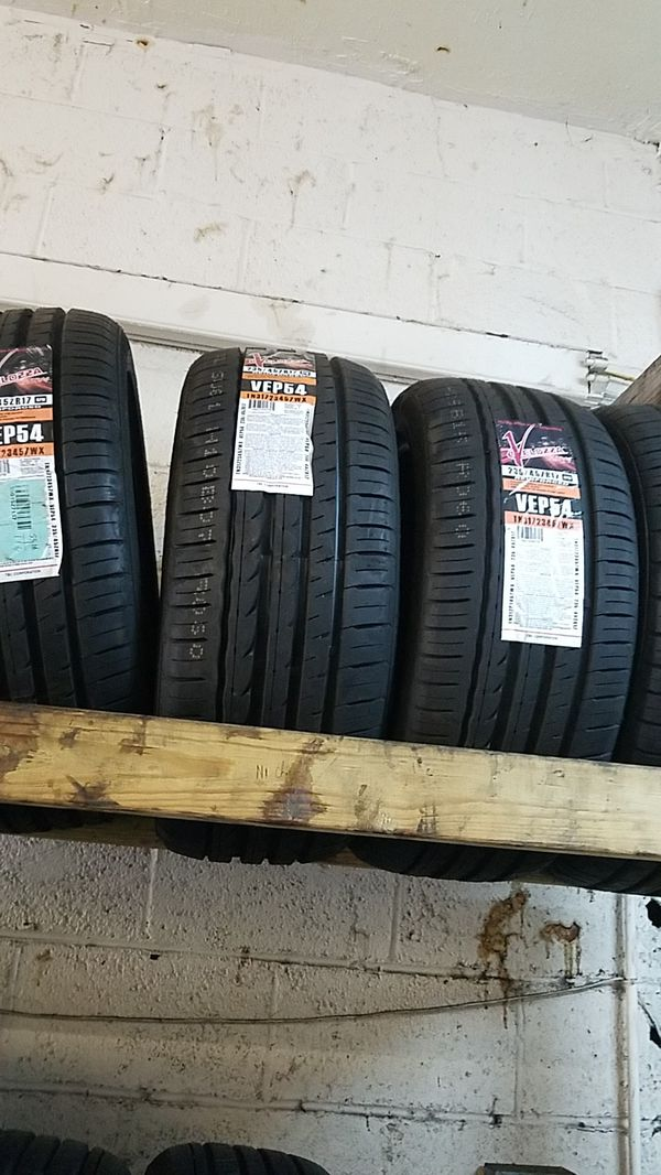 four bright new set of tires for sale 235/45/17