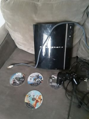 PS3 with 4 games ,hdmi cable and power chord 1 controller for Sale in Riverside, CA