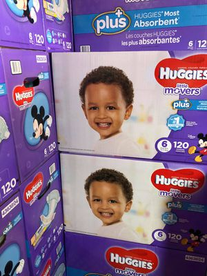 Huggies little movers size 6 for Sale in Downey, CA