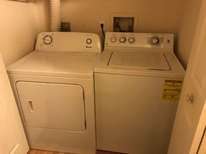 Almost new GE washer and Amana dryer for sale for Sale in Gaithersburg, MD