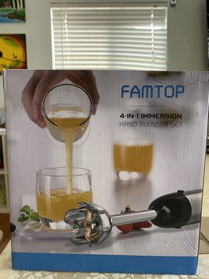 Brand New Famtop 4 in 1 Immersion Blender for Sale in San Diego, CA