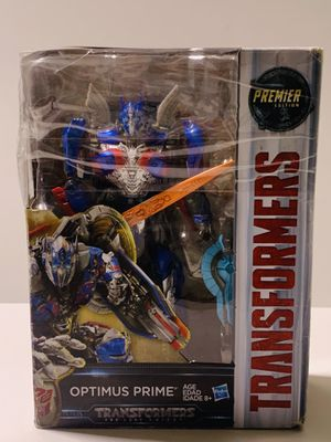 Hasbro Transformers The Last Knight Optimus Prime Premiere Edition Voyager Class Box is a little Damage but Figure is Great for Sale in Los Angeles, CA
