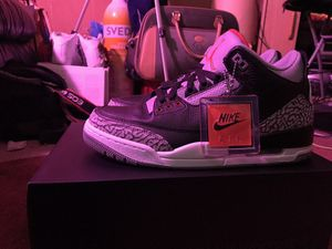 Air Jordan 3 black and cement OG Retro size 9 for Sale in Cleveland, OH