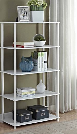 New!! Bookcase, bookshelves, storage unit, 8 cube Mainstays organizer, living room furniture, shelving display, entrance furniture, white for Sale in Phoenix, AZ