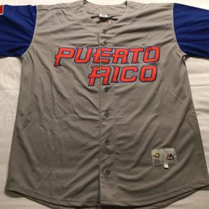 Cubs Baez Puerto Rico World Baseball Jersey / XL for Sale in Chicago, IL