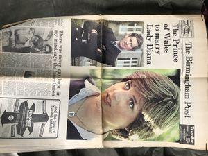 Uk newspaper from lady di's wedding for Sale in Elkton, VA