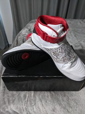 Nike Air Jordan Fusion AJF 20 Size 9.5 Basketball 331823-101 White Red Black for Sale in Anaheim, CA