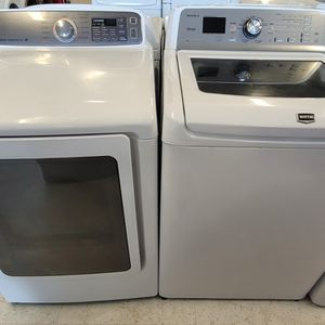 Maytag Tap Load Washer And Electric Dryer Mix And Match Set Used In Good Condition With 90day's Warranty for Sale in Washington, DC