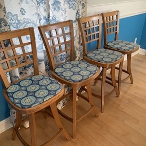 Wood Bar Stools (4) for Sale in Bristol, CT