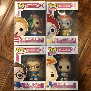 Funko Pop - GPK Garbage Pail Kids Set - Adam Bomb, Clark Can't, Beastly Boyd, Ghastly Ashley for Sale in Rowland Heights, CA