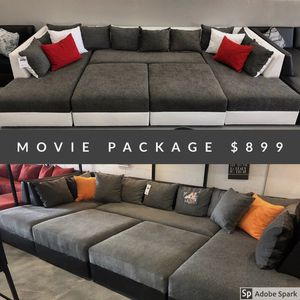 MOVIE NIGHT Sectional Sofa TRANSFORMER couch for Sale in Hialeah, FL