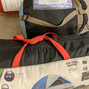 Camping Gear - 2 Sleeping Bags 5 Person Tent for Sale in Los Angeles, CA