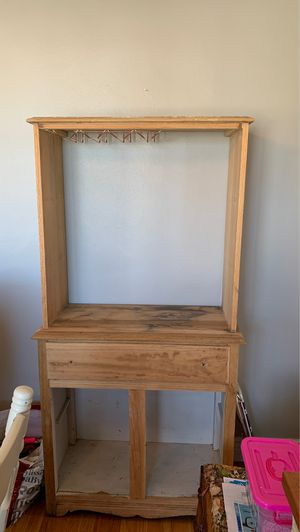 Wooden antique repurposed china cabinet for Sale in St. Louis, MO