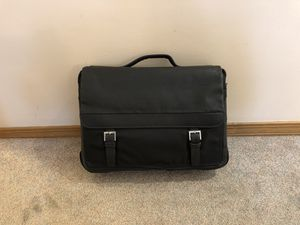 Black Leather & Canvas Laptop Attaché Bag $55 OBO for Sale in Emmaus, PA