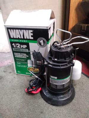 ••• Wayne SPF50 - 1/2 HP Thermoplastic Submersible Sump Pump for Sale in PA, US