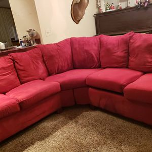 Red sectional couch for Sale in Alma, GA