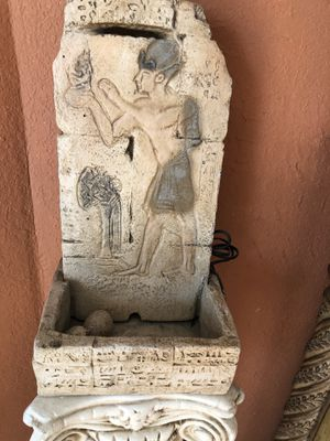 Water fountain with base for sale obo for Sale in Fontana, CA