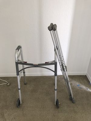 crutches and walker for Sale in Orlando, FL