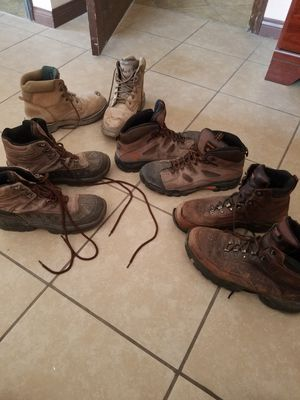 Men's size 10 work construction boots, 30 each or all for 80 for Sale in Las Vegas, NV
