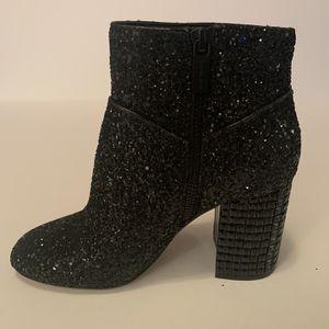 Michael Kors Women's Black Arabella Ankle Boot Glitter Fabric Size 5 for Sale in Oklahoma City, OK