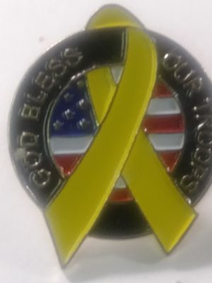 God Bless Our Troops lapel pin for Sale in Waterbury, CT