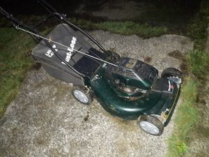 Lawn mower hard to start last time I used it but ran fine. Missing air filter and cover, also top of bag doesn't always stay shut Thanks for Sale in Federal Way, WA