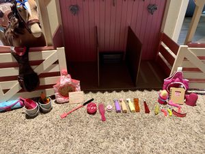 American Girl Doll Horse with Target Stable for Sale in Bothell, WA