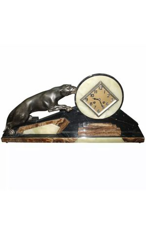 Art Deco antique French clock panther bronze for Sale in Hialeah, FL