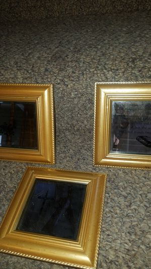 3 small mirror wall frames all for $5 for Sale in Kent, WA