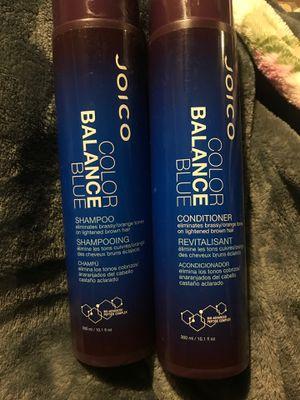JOICO BLUE SHAMPOO AND CONDITIONER … eliminates brassy/orange tones on lightened brown hair for Sale in Hemet, CA