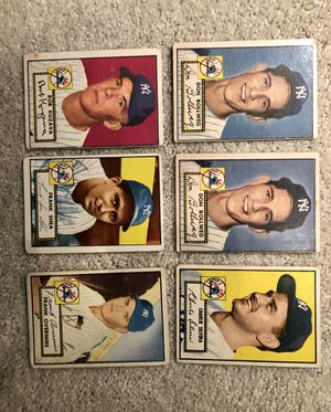 1952 Topps Baseball Cards - Lot of (6) - VG for Sale in Kent, WA