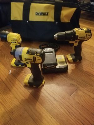 Dewalt impact, and hammer driver. Light. Charger and 1 20v battery for Sale in Newport, OR