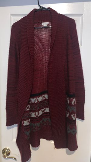 Burgundy Long Cardigan/ Sweater Size XS for Sale in Riverside, CA