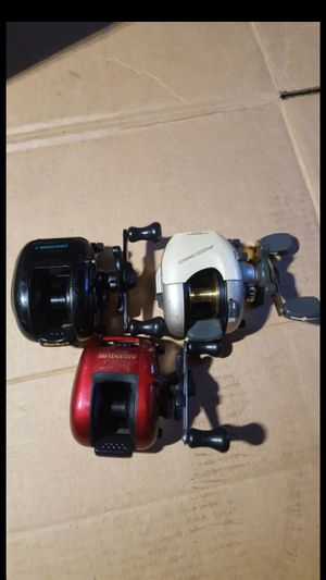 3 baitcasters baitcasting fishing reels for sale for Sale in Bethel, CT