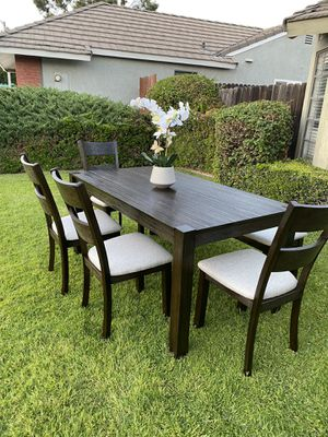 Dining Table With 4 Chairs and 1 Bench (Like New) OBO for Sale in Rancho Cucamonga, CA