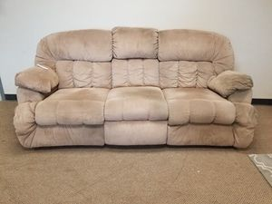 Cream Recliner Couch with Compartments for Sale in Denver, CO