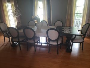 Restauration hardware table with 8 chairs for Sale in Deer Park, IL