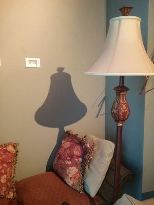 LIKE NEW Floor Lamp with Indian Style Decorative Design - MAKE OFFER - MOVING !! for Sale in Seattle, WA