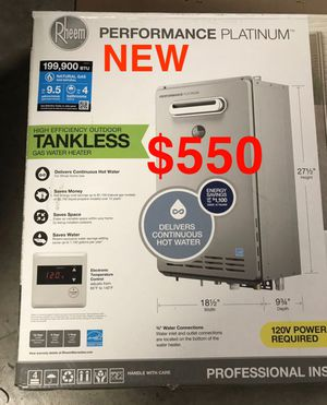 Rheem Performance Platinum 9.5 GPM Natural Gas High Efficiency Outdoor Tankless Water Heater *BRAND NEW* for Sale in Glendale, AZ