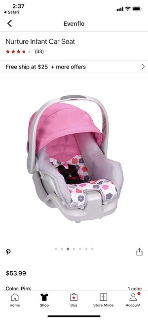 Evenflo infant car seat for Sale in Sacramento, CA