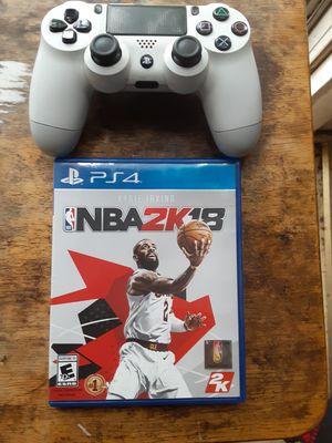 PS4 controller and NBA 2K18 game for Sale in Washington, DC