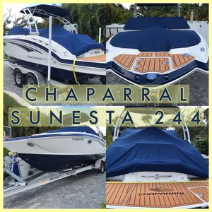Chaparral Sunesta 244 Bowrider Boat with Lightweight Trailer for Sale in Vero Beach, FL