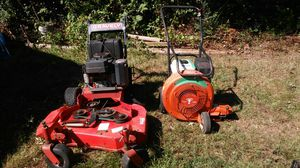 Bully leaf blower an 36in cut.. Walk behind graverly mower 2000 or obo. for Sale in Snellville, GA