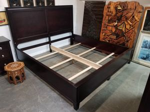 Durham Dark Wood King Size Bed Frame for Sale in Syracuse, NY