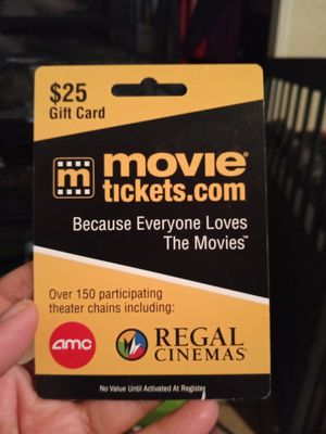 25$ movie ticket for Sale in Long Beach, CA