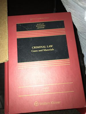 criminal law cases and materials 8th edition Kaplan Weisberg Binder for Sale in Chicago, IL