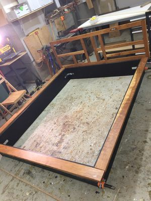 Custom cherry bed frame. Hand built. for Sale in Denver, CO