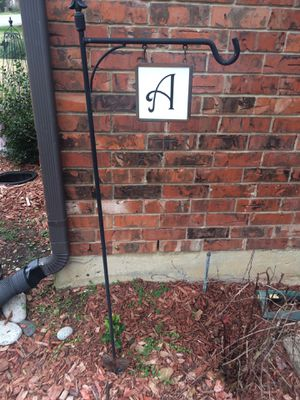 Garden signage and pot plant stand it is 52 by 14 for Sale in Carrollton, TX