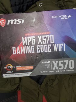 MSI MPG X570 Gaming Edge WIFI (AMD RYZEN 2000 AND 3000 series Compatible) for Sale in Los Angeles,  CA